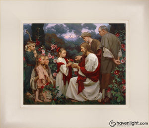 Of Such Is The Kingdom Of Heaven Open Edition Print / 10 X 8 Frame L 14 1/4 12 Art