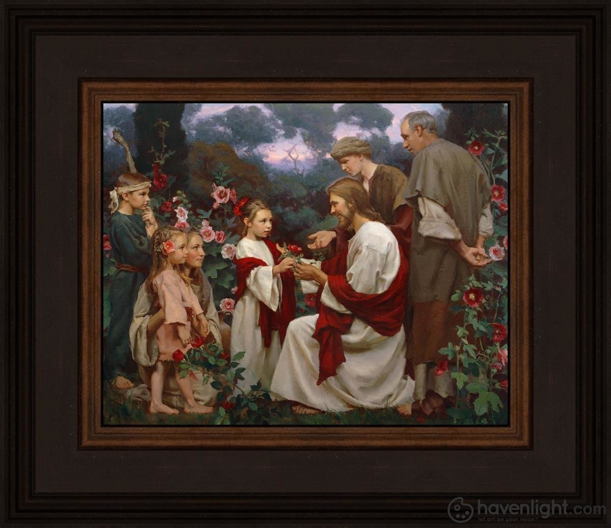 Of Such Is The Kingdom Of Heaven Open Edition Print / 10 X 8 Frame N 14 3/4 12 Art