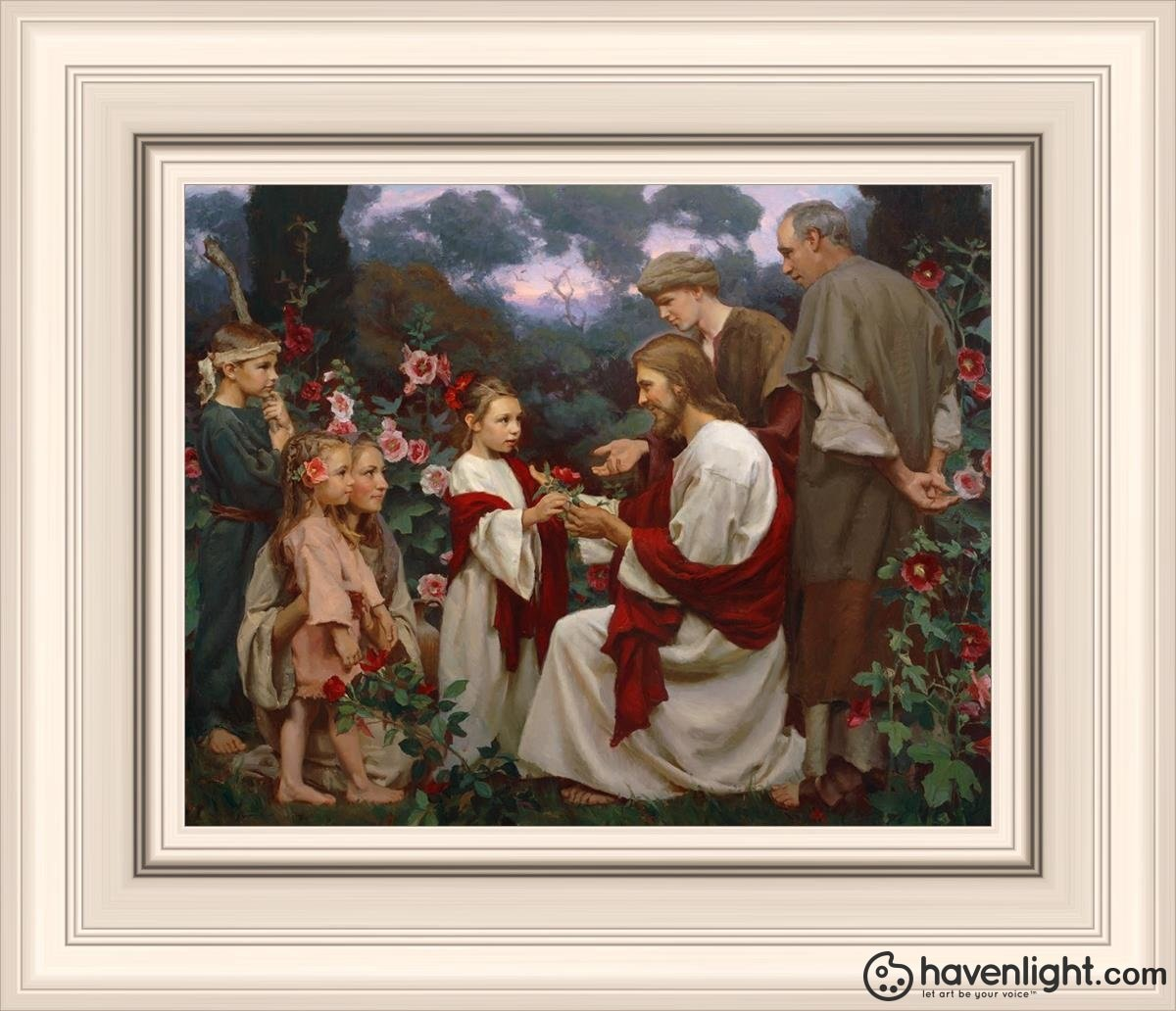 Of Such Is The Kingdom Of Heaven Open Edition Print / 10 X 8 Frame R 14 1/4 12 Art