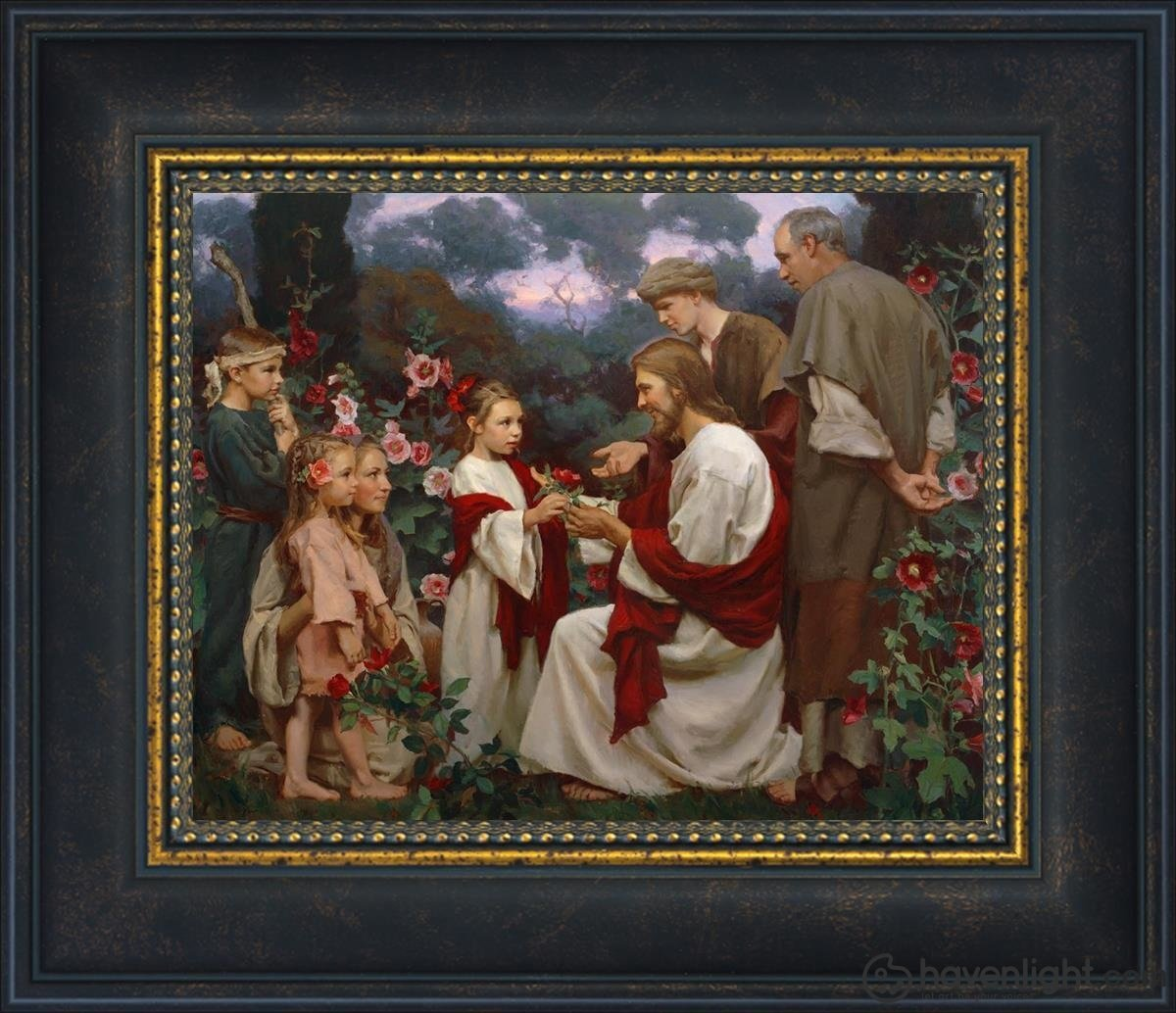 Of Such Is The Kingdom Of Heaven Open Edition Print / 10 X 8 Frame W 14 1/2 12 Art