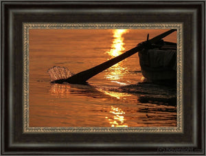 Plate 6 - Fishers Of Men Series 1 Open Edition Canvas / 18 X 12 Frame W 3/4 24 Art