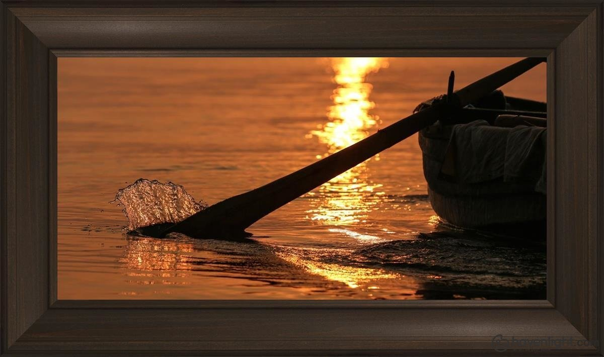 Plate 6 - Fishers Of Men Series 1 Open Edition Canvas / 30 X 15 Frame B 21 3/4 36 Art