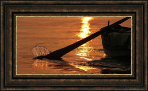 Plate 6 - Fishers Of Men Series 1 Open Edition Canvas / 30 X 15 Frame G 23 3/4 38 Art