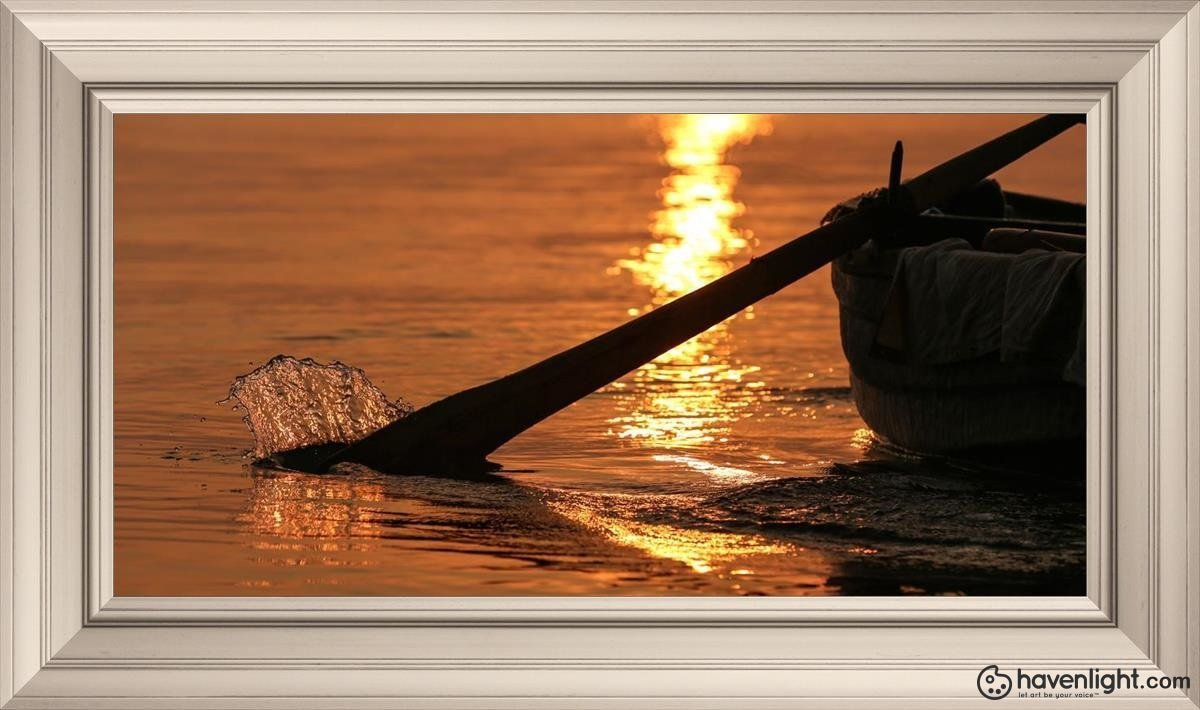 Plate 6 - Fishers Of Men Series 1 Open Edition Canvas / 30 X 15 Frame W 21 3/4 36 Art