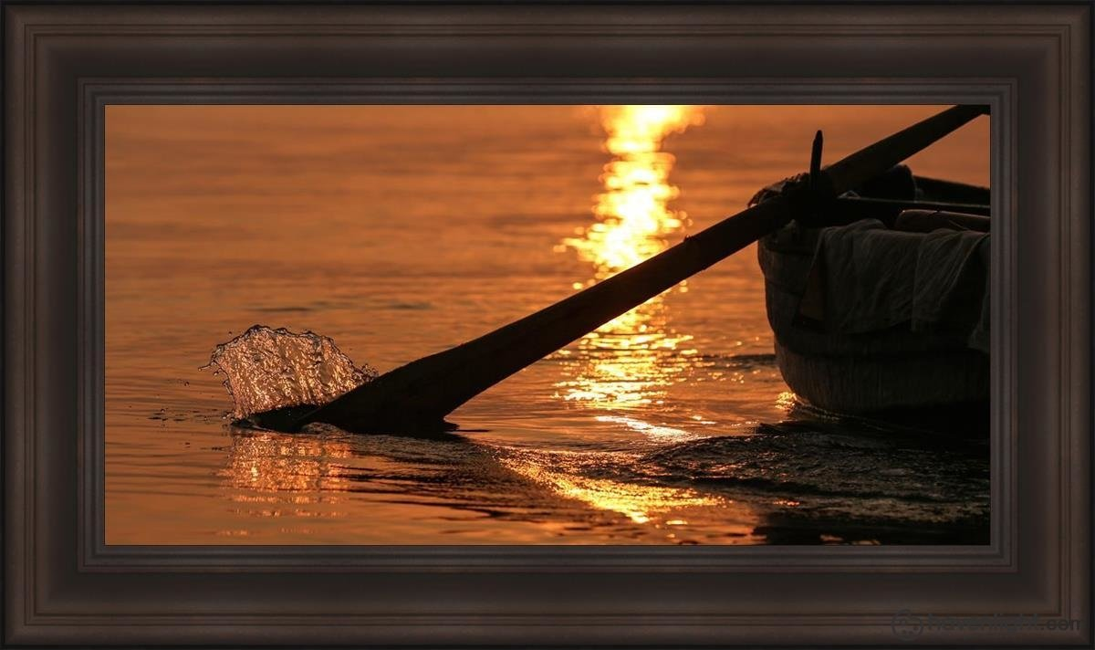 Plate 6 - Fishers Of Men Series 1 Open Edition Canvas / 36 X 18 Frame F 26 1/4 44 Art