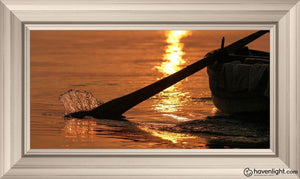Plate 6 - Fishers Of Men Series 1 Open Edition Canvas / 36 X 18 Frame W 26 3/4 44 Art