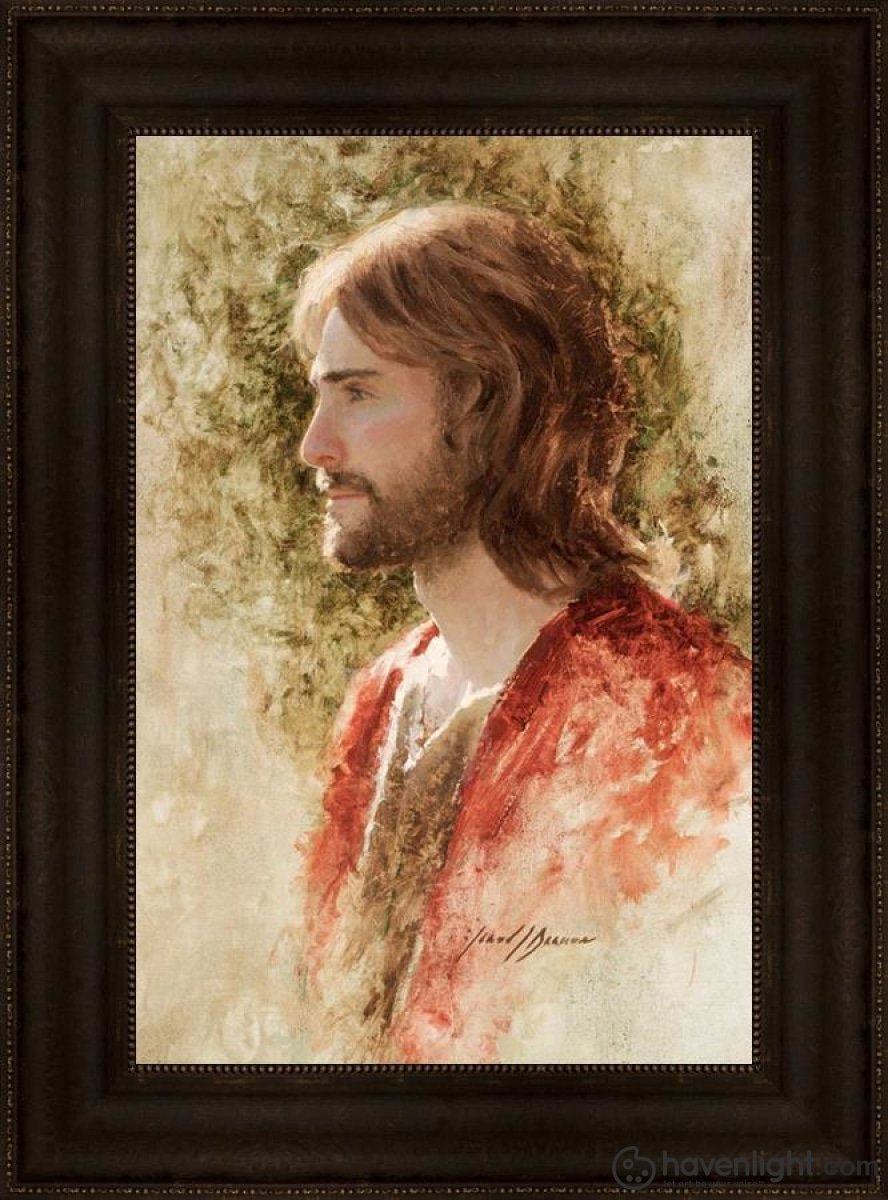 Prince Of Peace Open Edition Canvas / 16 X 24 Frame T 30 3/4 22 Art