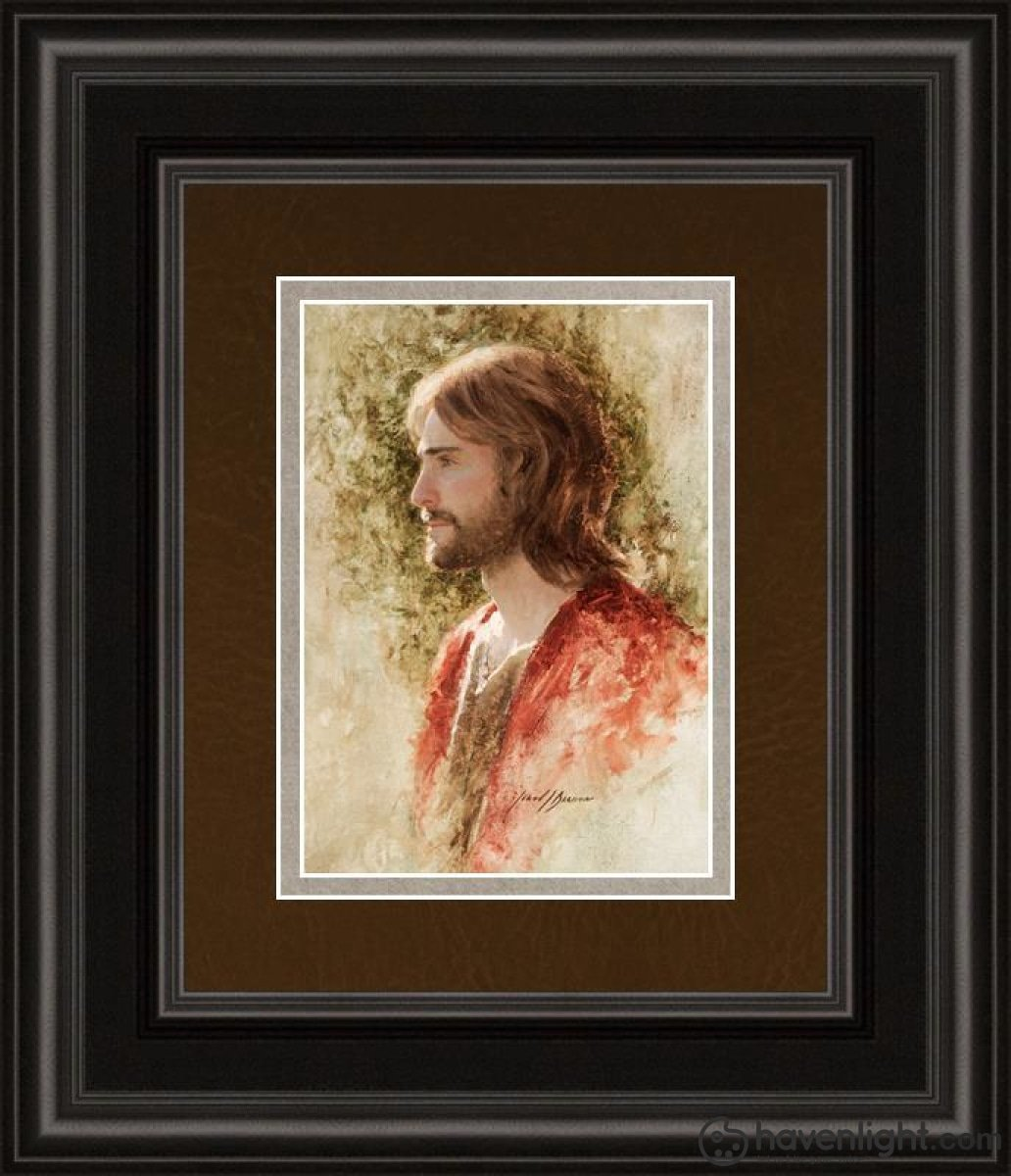Prince Of Peace Open Edition Print / 5 X 7 Frame B 11 1/4 9 Art
