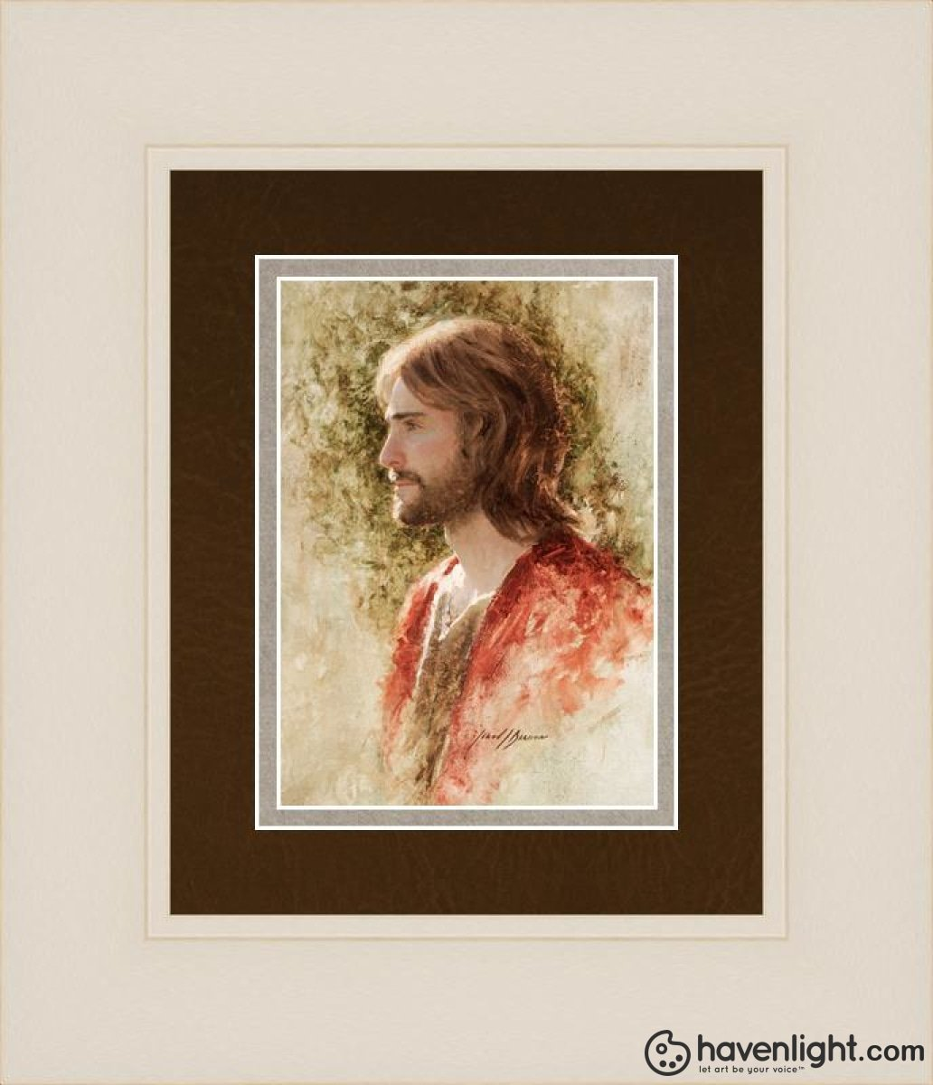Prince Of Peace Open Edition Print / 5 X 7 Frame W 11 1/4 9 Art