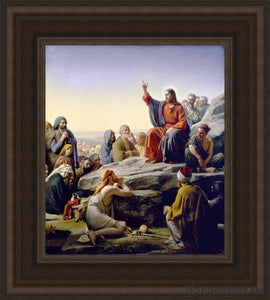 Sermon On The Mount Open Edition Canvas / 18 X 21 Frame A Art