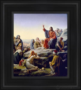 Sermon On The Mount Open Edition Canvas / 18 X 21 Frame B Art