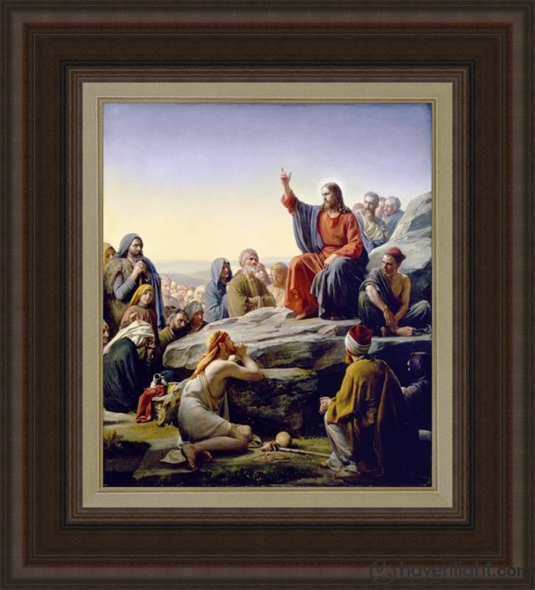 Sermon On The Mount Open Edition Canvas / 18 X 21 Frame C Art