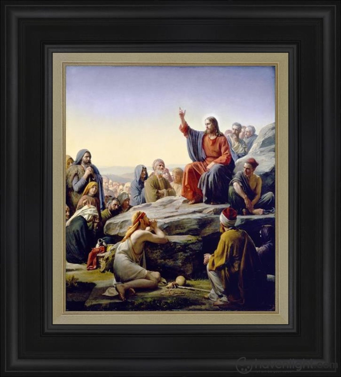 Sermon On The Mount Open Edition Canvas / 18 X 21 Frame D Art