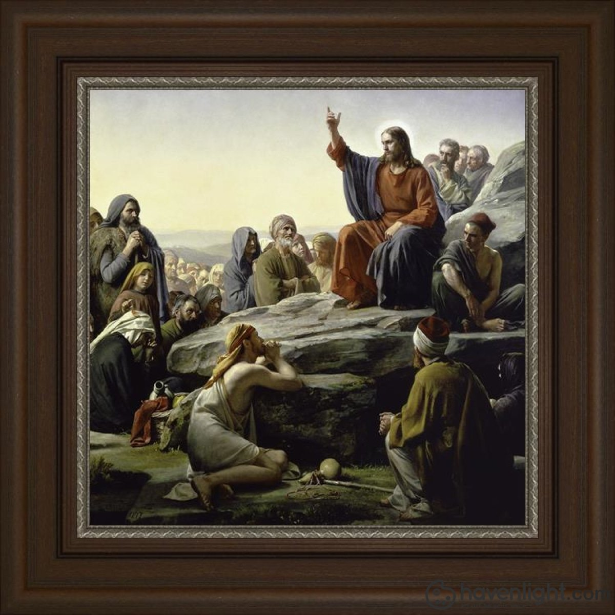 Sermon On The Mount Open Edition Canvas / 20 X Frame A Art