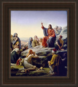 Sermon On The Mount Open Edition Canvas / 24 X 28 Frame A Art