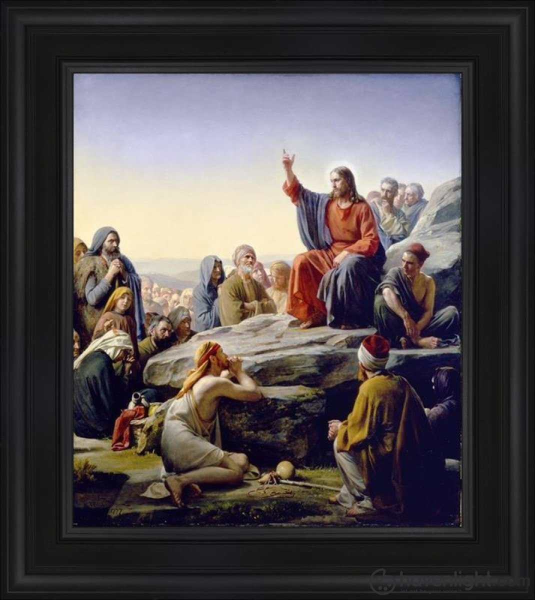 Sermon On The Mount Open Edition Canvas / 24 X 28 Frame B Art