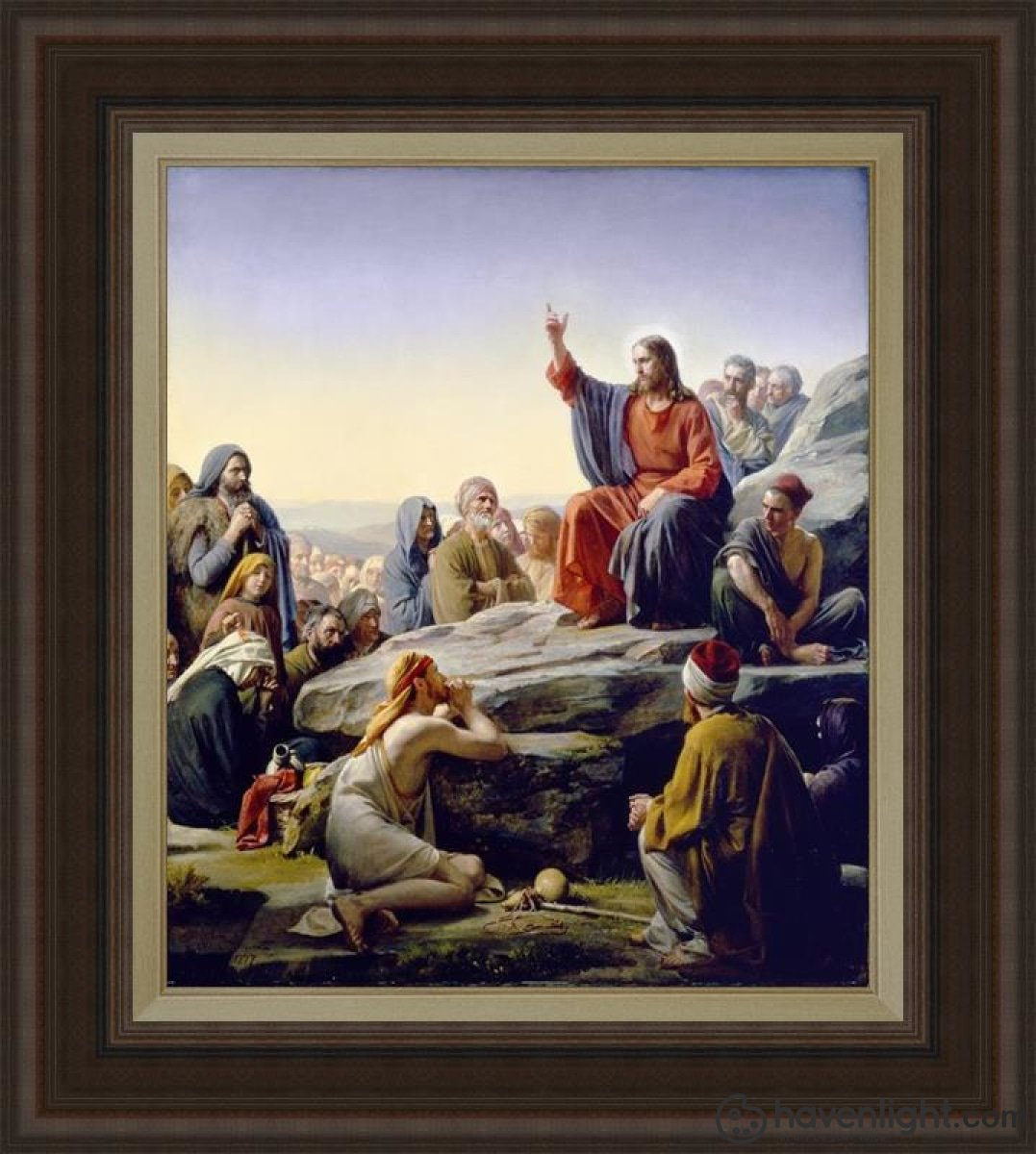 Sermon On The Mount Open Edition Canvas / 24 X 28 Frame C Art