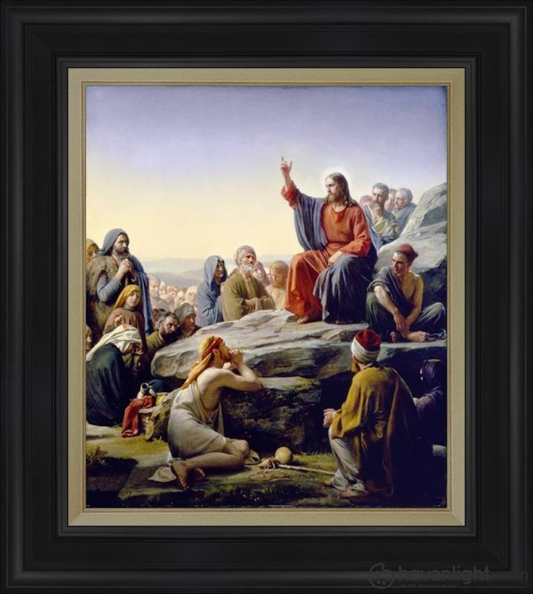 Sermon On The Mount Open Edition Canvas / 24 X 28 Frame D Art