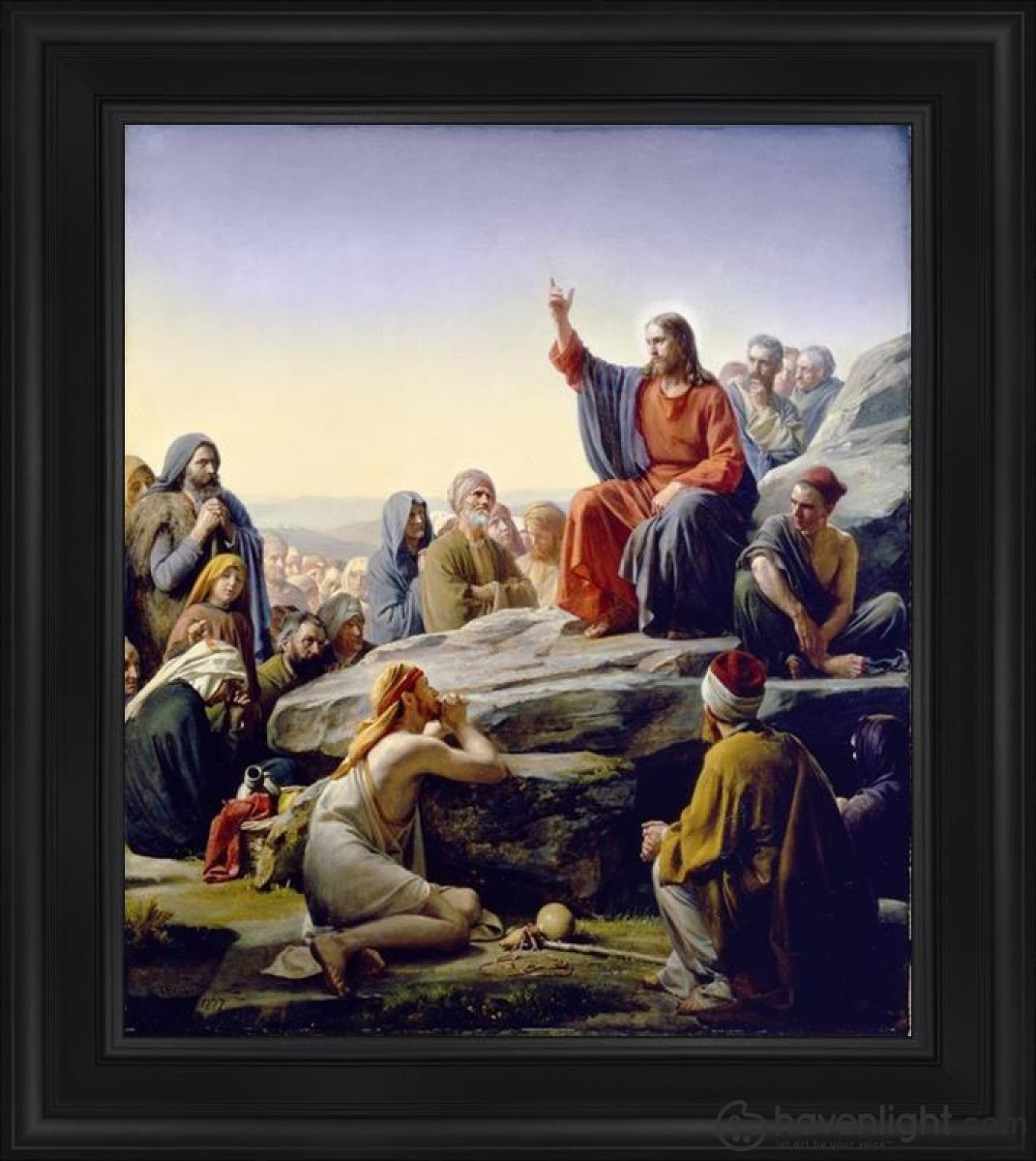 Sermon On The Mount Open Edition Canvas / 28 1/2 X 33 Frame A Art