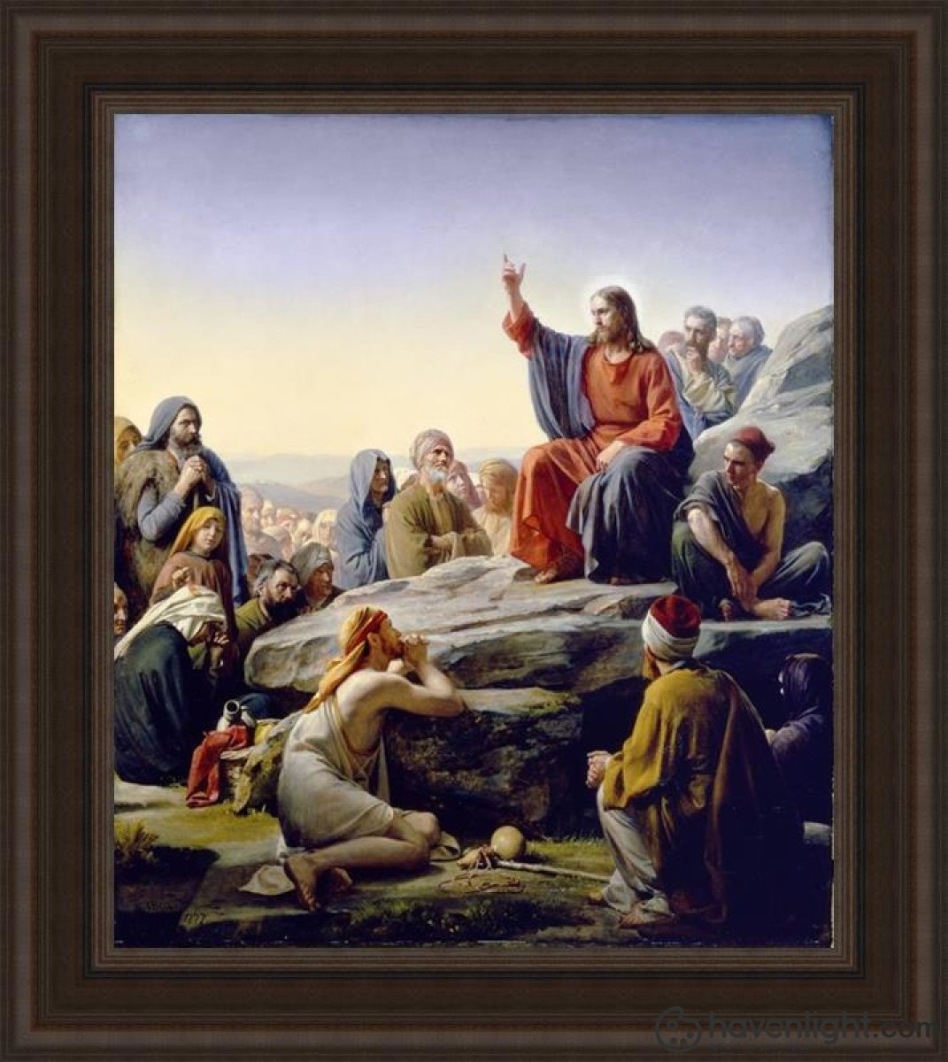 Sermon On The Mount Open Edition Canvas / 28 1/2 X 33 Frame B Art