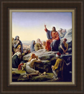 Sermon On The Mount Open Edition Canvas / 28 1/2 X 33 Frame C Art