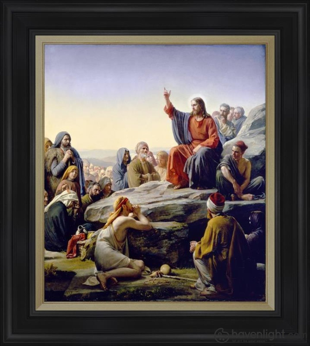 Sermon On The Mount Open Edition Canvas / 28 1/2 X 33 Frame D Art