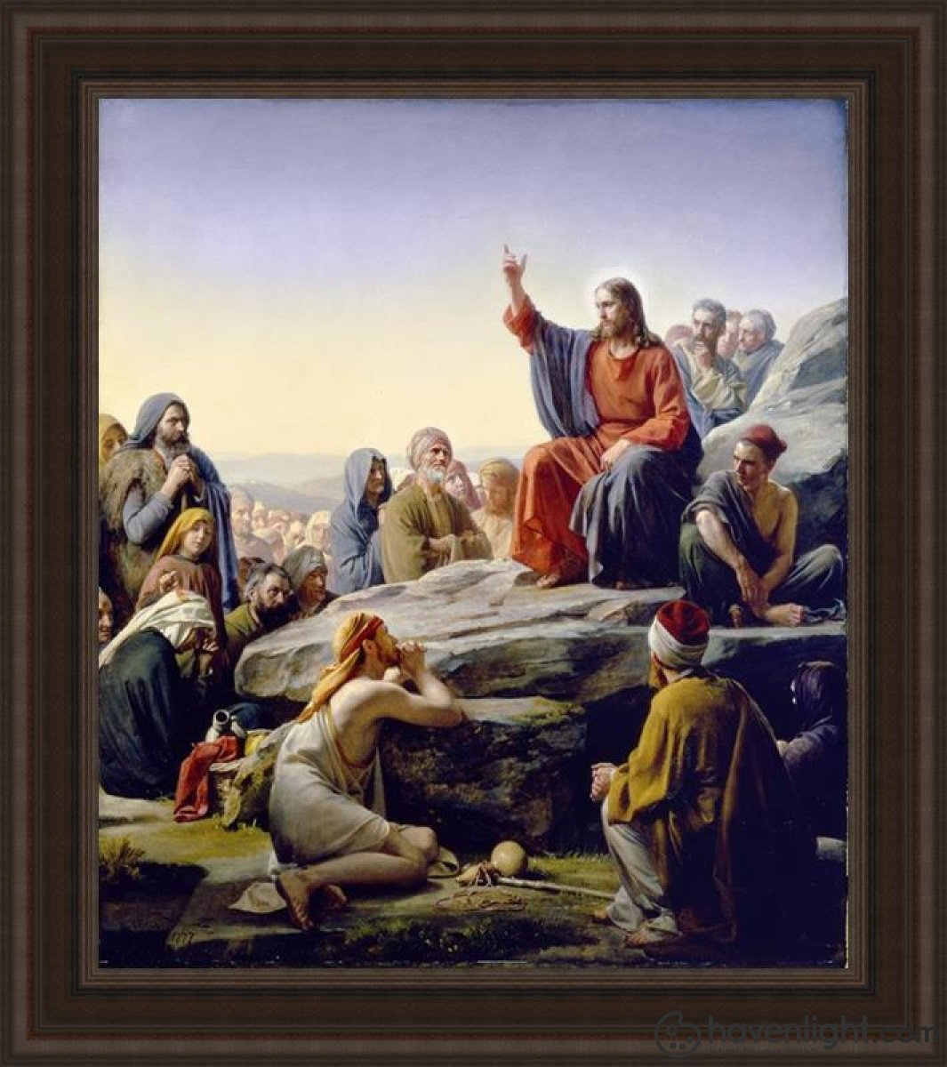 Sermon On The Mount Open Edition Canvas / 34 1/2 X 40 Frame A Art