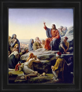 Sermon On The Mount Open Edition Canvas / 34 1/2 X 40 Frame B Art