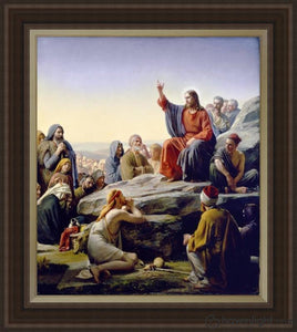 Sermon On The Mount Open Edition Canvas / 34 1/2 X 40 Frame C Art