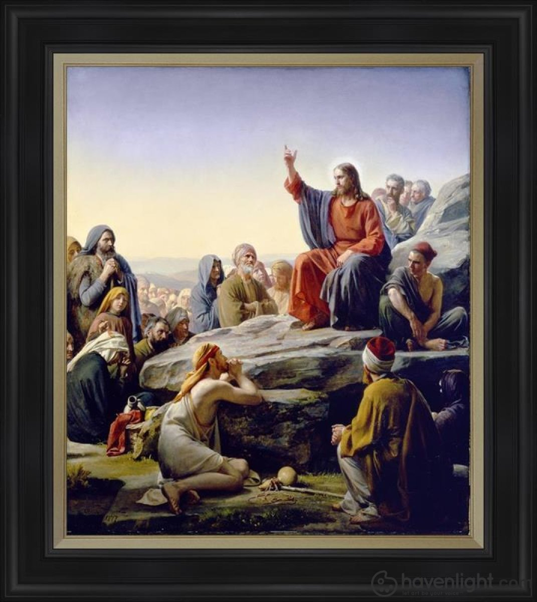 Sermon On The Mount Open Edition Canvas / 34 1/2 X 40 Frame D Art