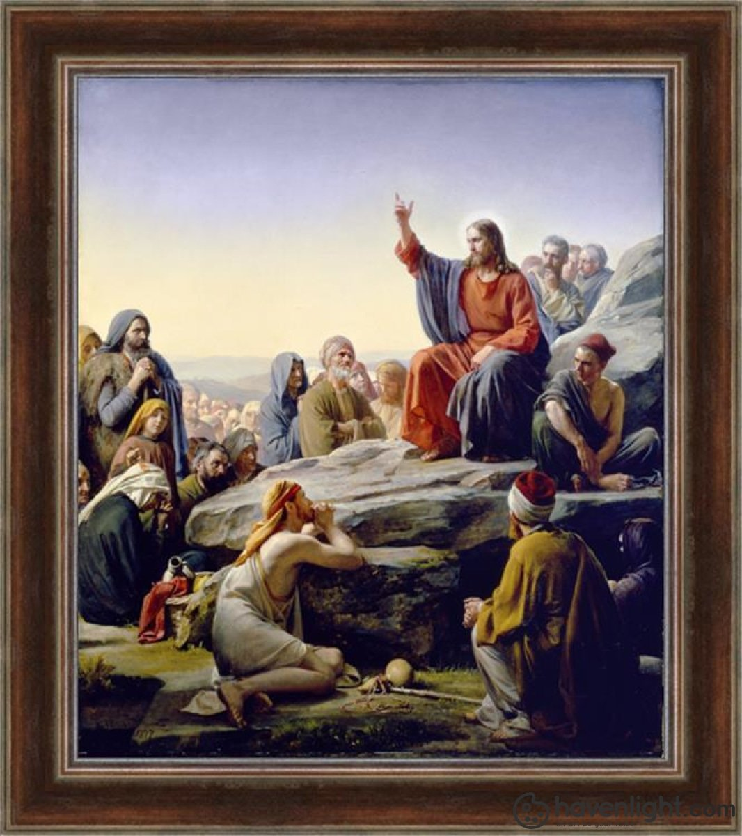 Sermon On The Mount Open Edition Canvas / 34 1/2 X 40 Frame E Art