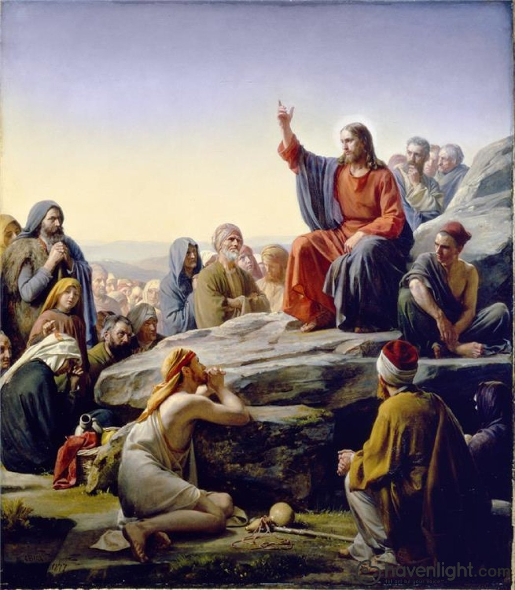 Sermon On The Mount Open Edition Canvas / 34 1/2 X 40 Print Only Art