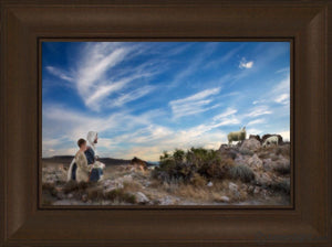Training The Young Shepherd Open Edition Canvas / 18 X 12 Frame C 17 3/4 23 Art