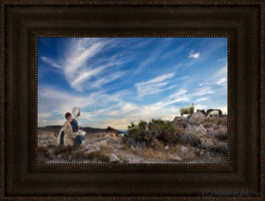 Training The Young Shepherd Open Edition Canvas / 18 X 12 Frame T 3/4 24 Art