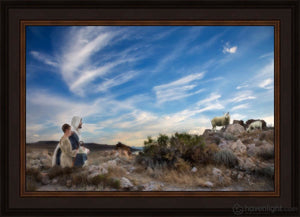 Training The Young Shepherd Open Edition Canvas / 24 X 16 Frame N 20 3/4 28 Art