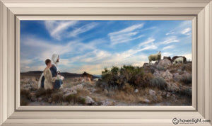 Training The Young Shepherd Open Edition Canvas / 30 X 15 Frame W 21 3/4 36 Art