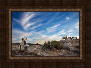Training The Young Shepherd Open Edition Canvas / 30 X 20 Frame A 40 Art