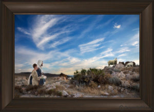 Training The Young Shepherd Open Edition Canvas / 30 X 20 Frame B 26 3/4 36 Art