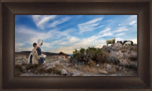 Training The Young Shepherd Open Edition Canvas / 36 X 18 Frame B 26 1/2 44 Art