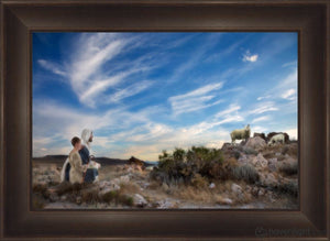 Training The Young Shepherd Open Edition Canvas / 36 X 24 Frame B 32 1/2 44 Art