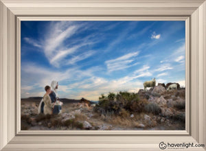Training The Young Shepherd Open Edition Canvas / 36 X 24 Frame W 32 3/4 44 Art