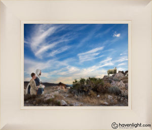 Training The Young Shepherd Open Edition Print / 10 X 8 Frame L 12 1/4 14 Art