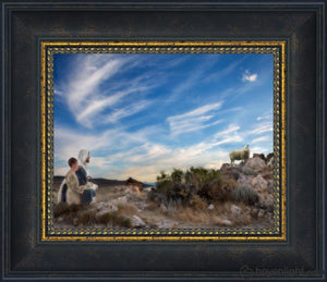 Training The Young Shepherd Open Edition Print / 10 X 8 Frame W 12 1/2 14 Art