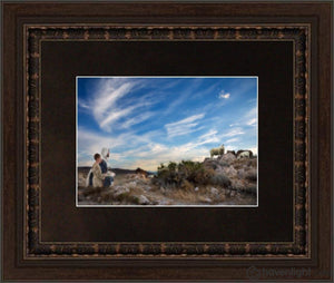 Training The Young Shepherd Open Edition Print / 7 X 5 Frame A 7/8 9 Art