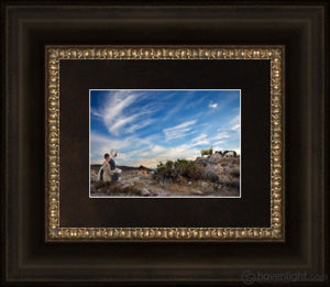 Training The Young Shepherd Open Edition Print / 7 X 5 Frame B 10 1/4 12 Art