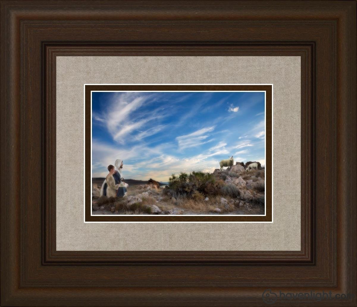 Training The Young Shepherd Open Edition Print / 7 X 5 Frame C 14 1/4 12 Art