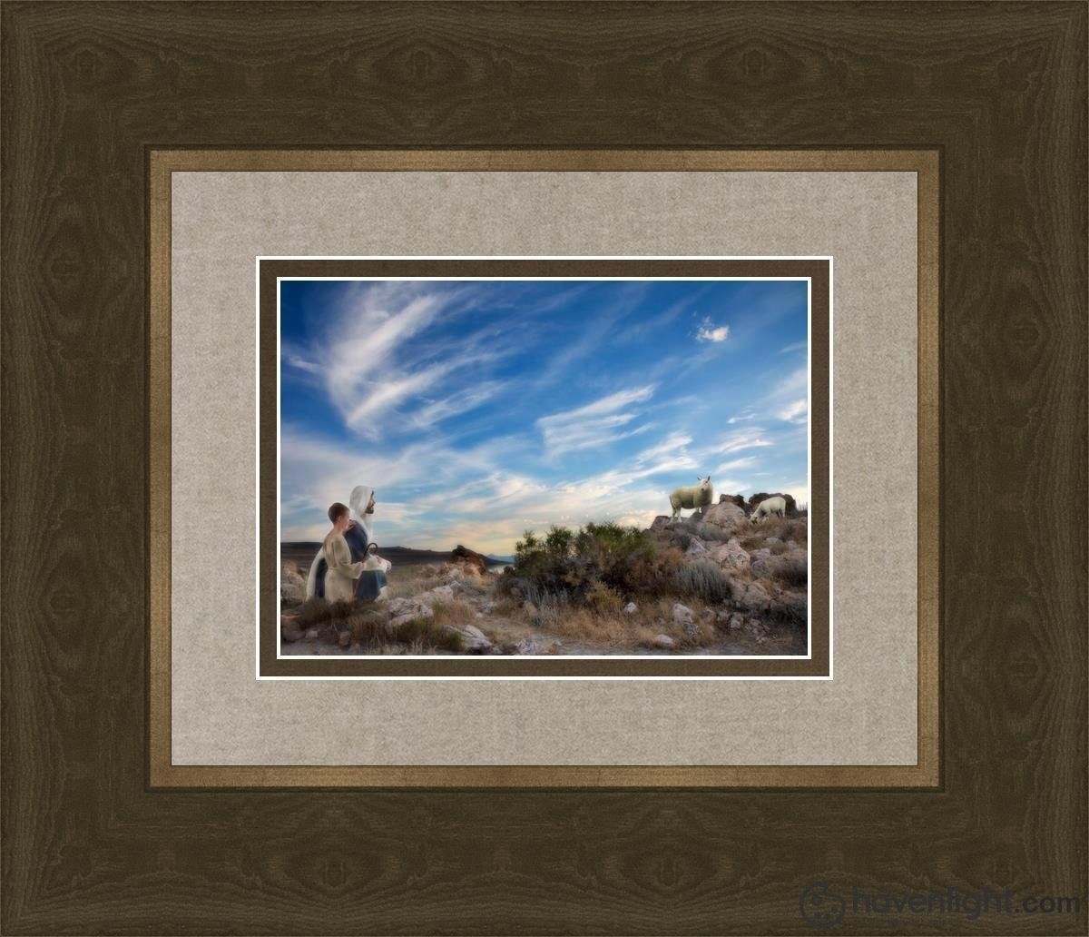 Training The Young Shepherd Open Edition Print / 7 X 5 Frame G 14 1/4 12 Art