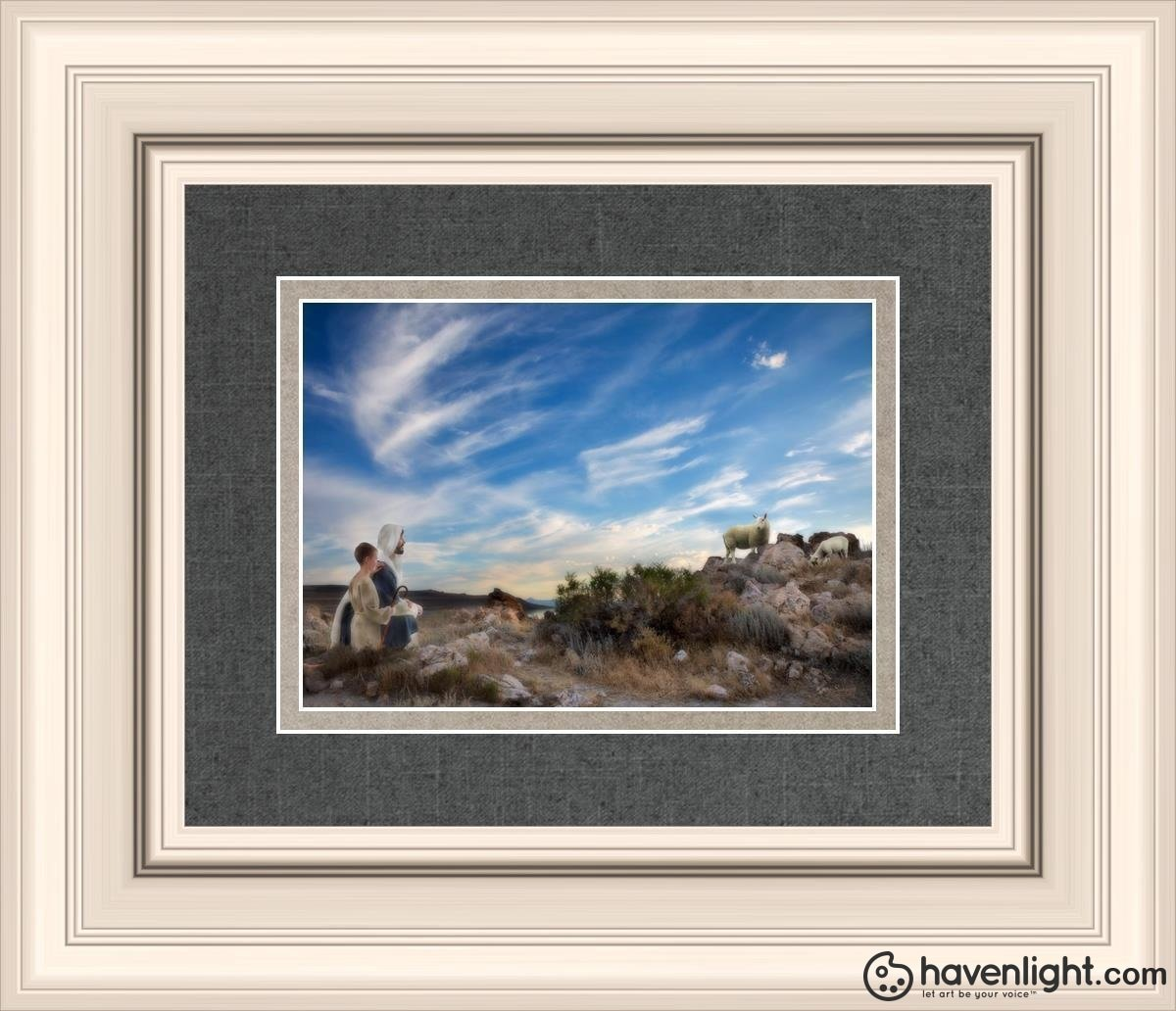 Training The Young Shepherd Open Edition Print / 7 X 5 Frame R 14 1/4 12 Art