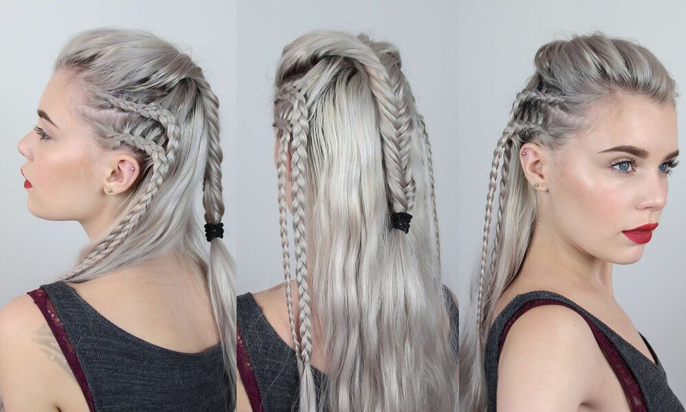 coiffure cheveux style Lagertha