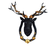 Antique Craft Deer Head Vintage Sculpture